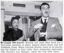 Adam Clayton Powell and Wife Hazel Scott Caught Off Guard - Jet Magazine,  January 6, 1955 | Jet magazine, Adam powell, Adam clayton