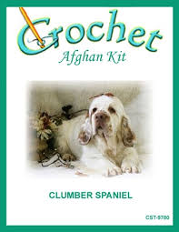 clumber spaniel crochet afghan kit
