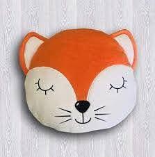 Amazon Com Fox Pillow Animal Pillow Fox Cushion Fox Plush Toy Kids Pillows Decorative Pillow Kids Room Unique Gift Her Decor Baby Bedding Woodland Toy Handmade