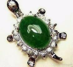 green jade amulet pendant sterling