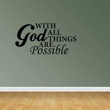 With God Decal Vinyl Wall Decals Vinyl Decals Religious Decal Christian Decal Pc125 L Walmart Com Walmart Com