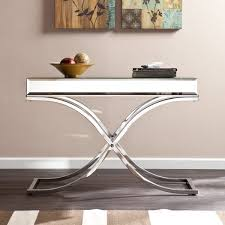 jeannie mirrored console table with