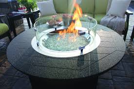 round glass wind guard donoma fire pit