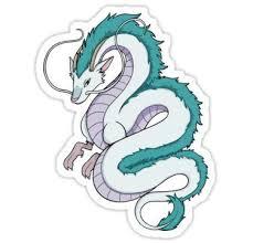Spirited Away Dragon Haku Sticker Dibujos Pegatinas Bonitas Pegatinas Kawaii