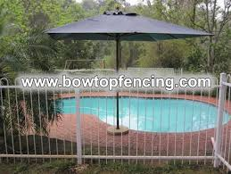 Bow Top Steel Bar Fences For Swimming Pools Safety
