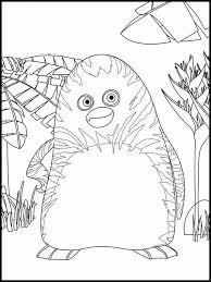 Kleurplaat The Jungle Bunch 3