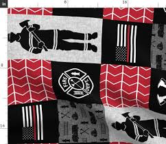 firefighter patchwork thin red line