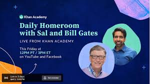 From Khan Academy for families: Daily Homeroom with Sal Khan and ...