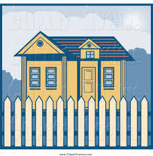 Avenue Clipart Of A Yellow House With A Picket Fence By Patrimonio 1627