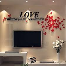 Mkono 3d Stereo Acrylic Crystal Wall Sticker Home Decal Art Mural For Tv Background Decoration Wall Stickers Wallpaper Wall Stickers Romantic Decal Wall Art
