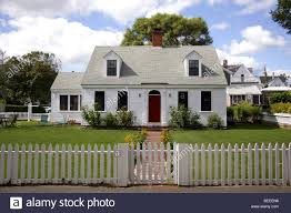 White Cottage And Picket Fence Provincetown Cape Cod Stock Photo Alamy