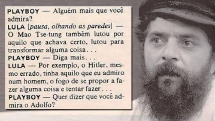 """Resultado de imagem para lula elogia hitler"""""""