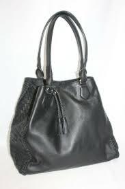 black leather loveth drawstring tote