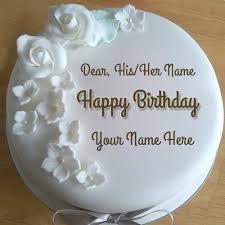 diamond birthday wishes round cake with