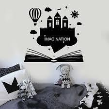 Vinyl Wall Decal Imagination Kids Room Book Fantasy Castle Stickers Ig4275 Ebay