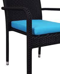boulevard wicker outdoor dining chair