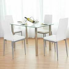 tempered glass dining table and chairs