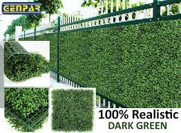 Genpar Artificial Boxwood Hedge Covers 33 Sq Feet 12 Panels 20 X 20 Mygenpar Com