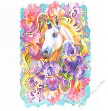 Unicorn Garden Iris Floral Wall Art Decals Appliques Stickers Mural Peel Stick Ebay