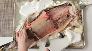 Salmon baked in salt recipe ...