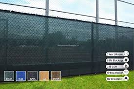 Windscreensupplyco Heavy Duty Fence Privacy Screen 5ft X 50ft Chain Link Fence Cover Shade Cloth With Grommets Green Amazon In Garden Outdoors