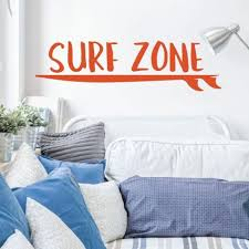 Surfing Wall Decor Surf Zone Vinyl Decor Wall Decal Customvinyldecor Com