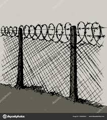 Barbed Wire Vector Drawing Stock Vector C Marinka 195546264