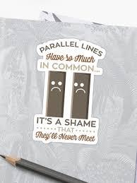 parallel lines cool funny best maths mathematics maths teacher