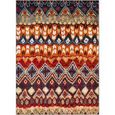 red blue and orange area rug serapi