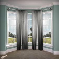 pipe bay window single curtain rod