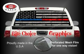 Police Thin Blue Red Line Rear Window Graphic Tint Decal Etsy