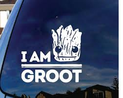 I Am Groot Vinyl Decal Car Sticker Laptop Gaurdians Of The Galaxy Funny Comic Car Sticker Stickers Laptopdecals Car Aliexpress