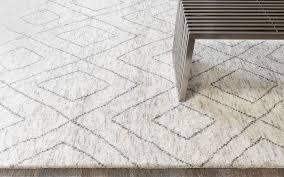 double diamond moroccan rug silver