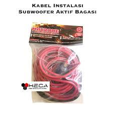 kabel instalasi subwoofer aktif active