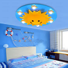 Creative Cartoon Sun Smile Designer Kids Girls Cute Ceiling Light