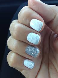 Pin by Janelle Wells on Nails | White gel nails, White glitter nails, Nails