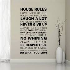 Family Living Room Home Decorations Quotes Wall Decals House Rules Diy Bedroom Removable Vinyl Stickers Decals For Living Room Quote Wall Decal Wall Decalshouse Rules Aliexpress