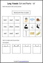long vowel cut paste worksheets