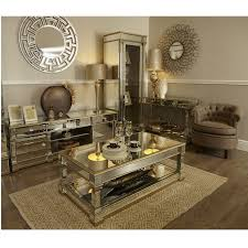 ariana mirrored tv unit luxe