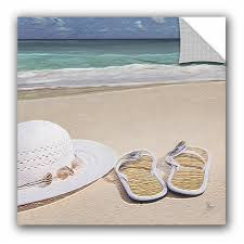 Winston Porter Sandals On The Beach Removable Wall Decal Wayfair