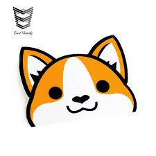 Earlfamily 12cm X 10cm Peeking Corgi Vinyl Decal Sticker Laptop Stickers Cute Pet Dog Decals Waterproof Car Stickers Buy At The Price Of 1 51 In Aliexpress Com Imall Com