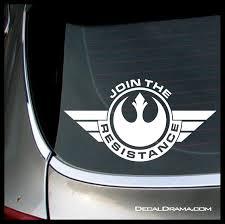 Join The Resistance Badge Star Wars Inspired Fan Art Vinyl Wall Decal Star Wars Wall Decal Star Wars Logo Sticker Death Star Sticker