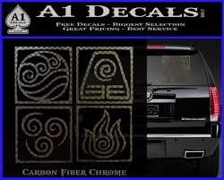 Elements Avatar The Last Airbender Vinyl Decal A1 Decals