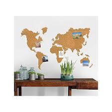 Cork World Map Wall Decal Set With Pins Kirklands
