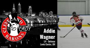 """Cleveland Barons on Twitter: """"Lady Barons LHD, Addie Wagner 🏒… """""""