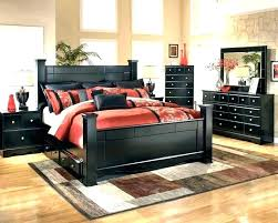 king bed frame black size with
