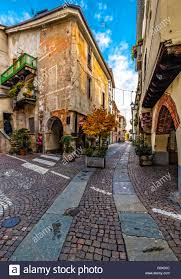 Italy Piedmont Cuneo Old City, Contrada Mondovì Stock Photo - Alamy