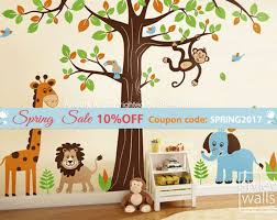 10 Off Coupon On Jungle Wall Decal Safari Animals Wall Decal Huge Set Tree Wall Decal Lion Elephant Monkey Giraffe Nursery Kids Decal Sticker Baby Room Art By Styleywalls Etsy Coupon Codes
