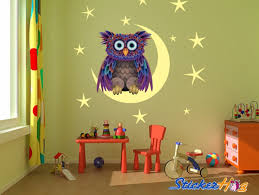 Owl On The Moon Wall Decals