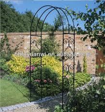 decorative small metal rose garden arch